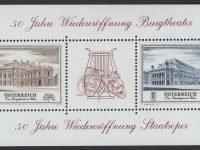 Österreich - Block 030 - postfrisch - 50 Jahrestag Burgtheater