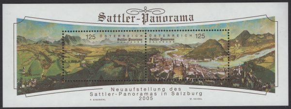 Österreich - Block 031 - postfrisch - Sattler-Panorama