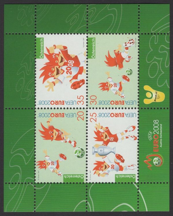 Österreich - Block 038 - postfrisch - Fußball-Europameisterschaft