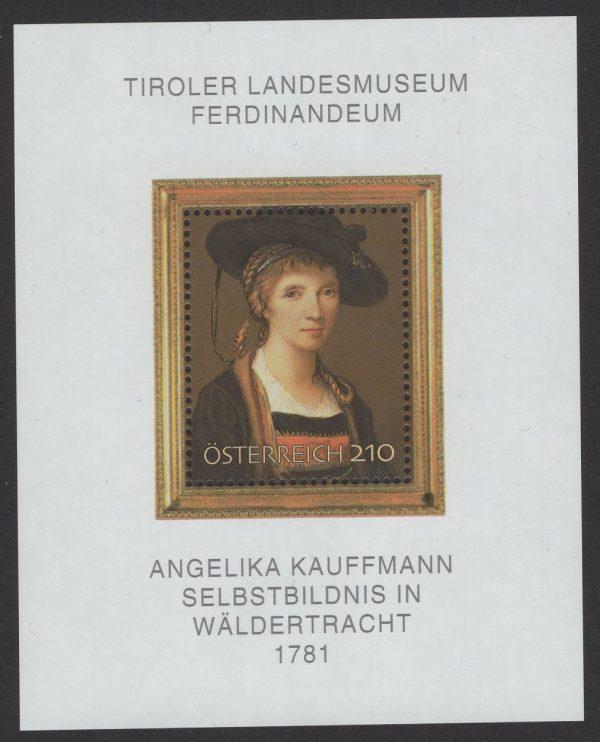 Österreich - Block 039 - postfrisch - Angelika Kauffmann