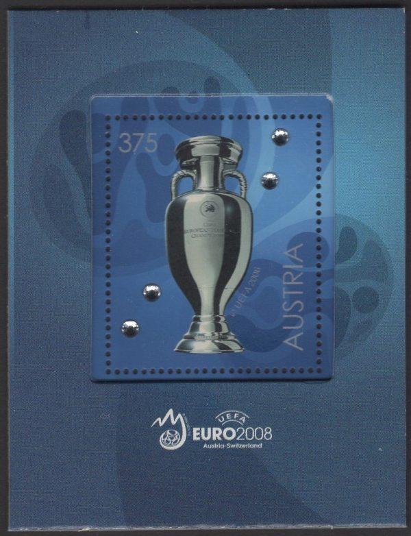 Österreich - Block 043 - postfrisch - Fußball-Europameisterschaft Pokal 08