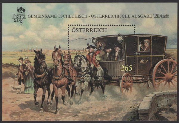 Österreich - Block 045 - postfrisch - WIPA PRAGA 08