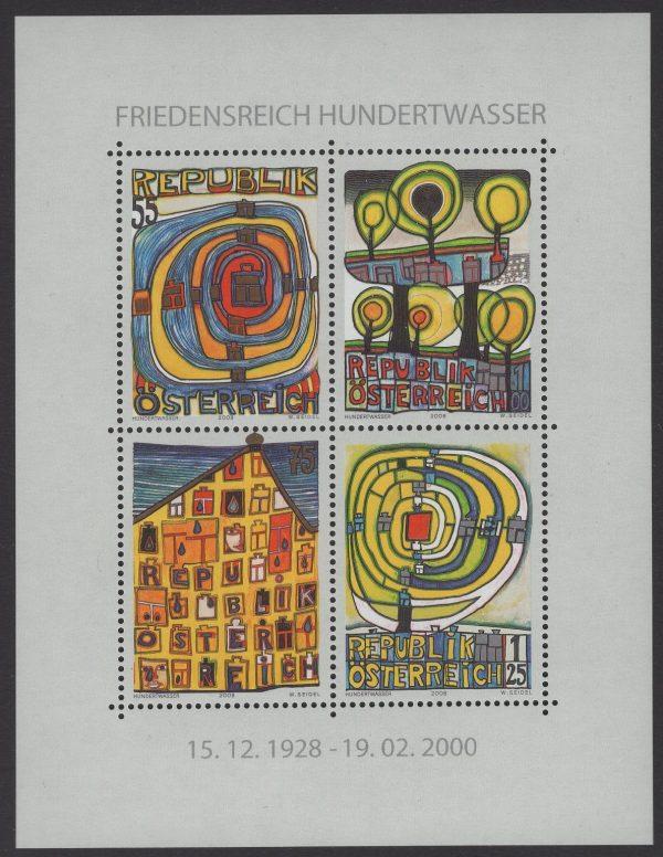 Österreich - Block 047 - postfrisch - Hundertwasser