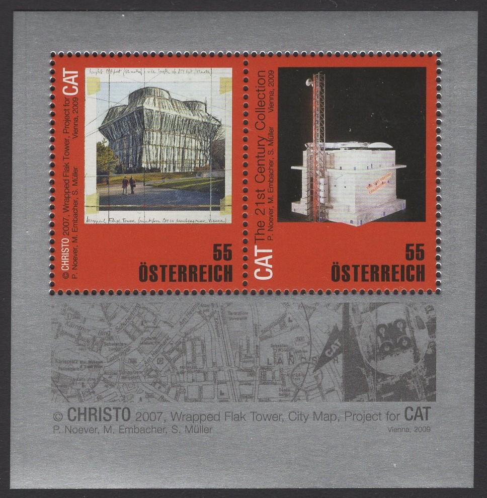 Österreich - Block 050 - postfrisch - Verpackungskünstler Christo