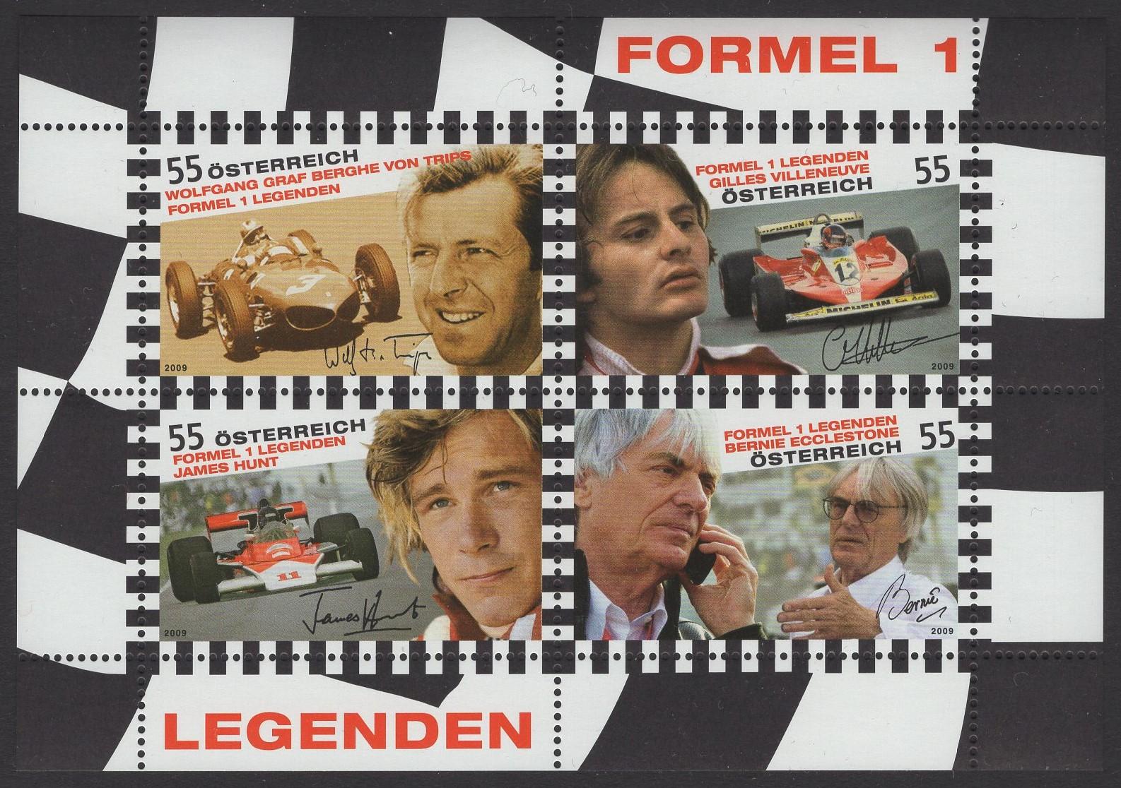 Österreich - Block 051 - postfrisch - Formel 1 Rennfahrer