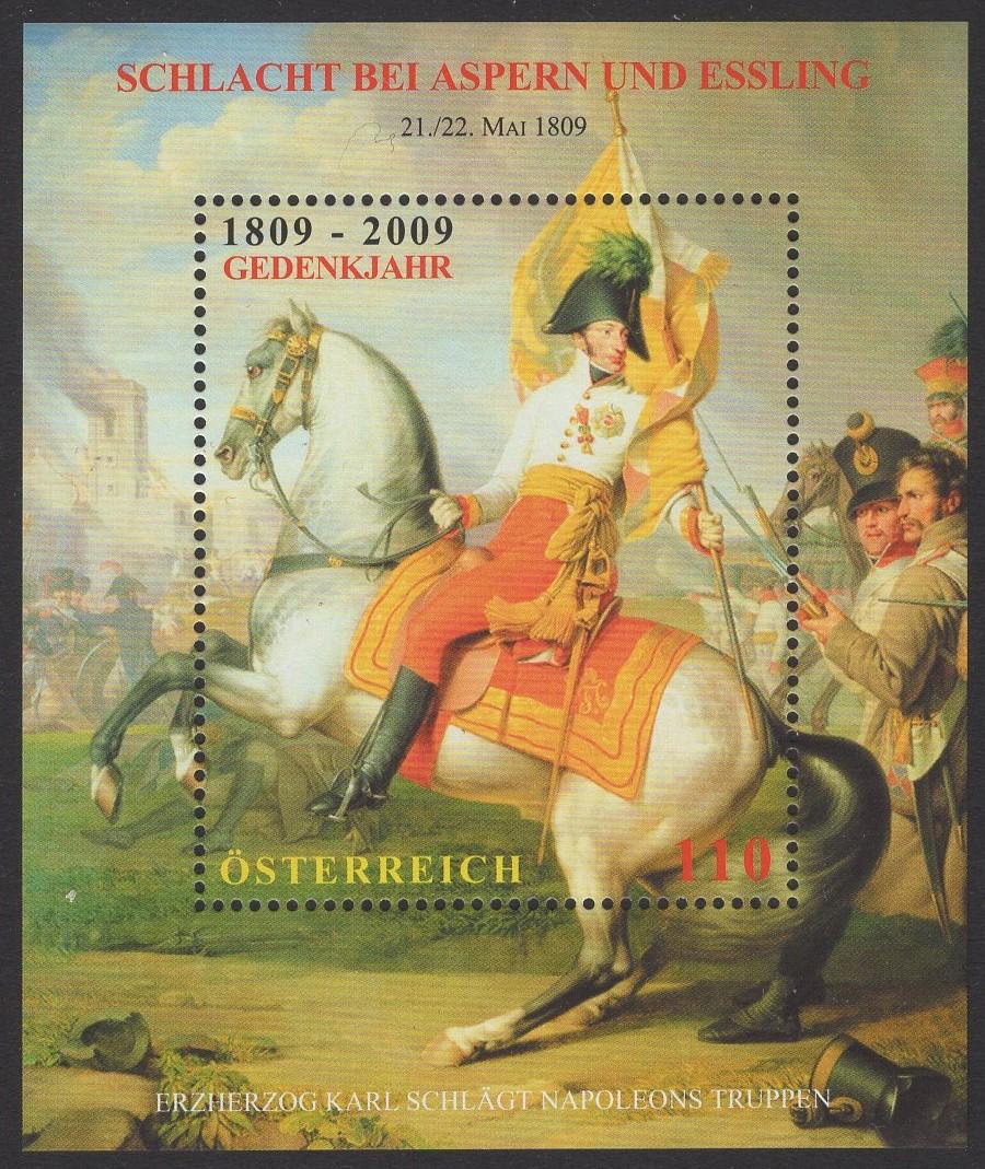 Österreich - Block 052 - postfrisch - Schlacht bei Aspern