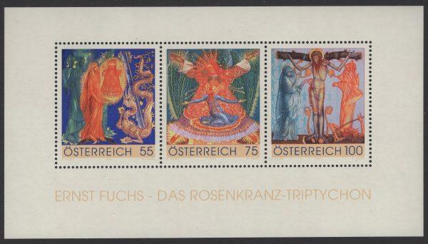Österreich - Block 054 - postfrisch - Rosenkranz-Triptychon