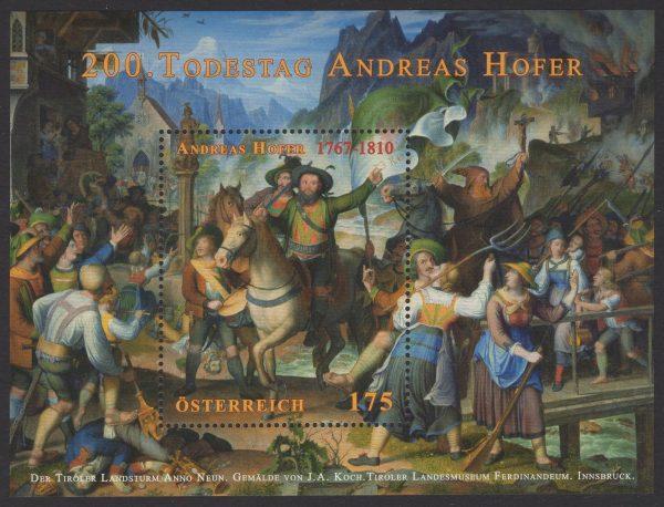 Österreich - Block 058 - postfrisch - Andreas Hofer