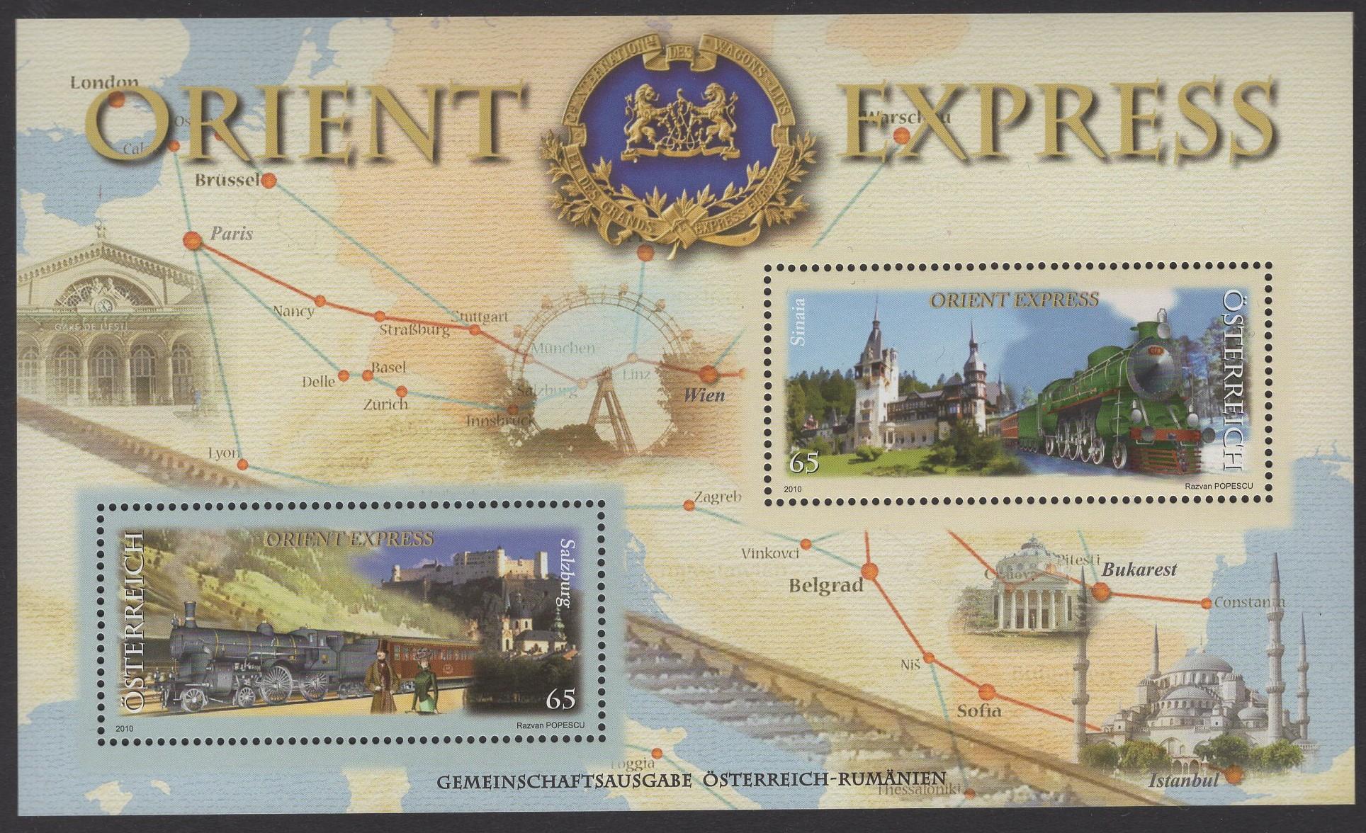 Österreich - Block 060 - postfrisch - Orient Express