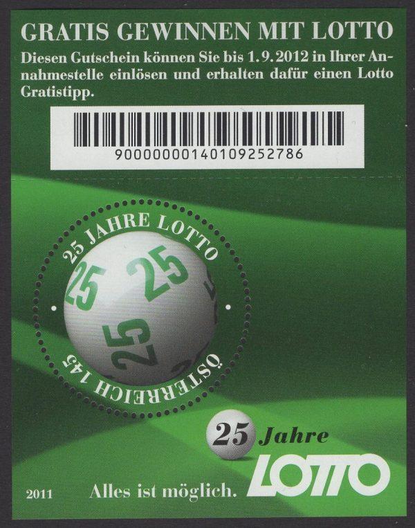 Österreich - Block 066 - postfrisch - 25 Jahre Zahlenlotto