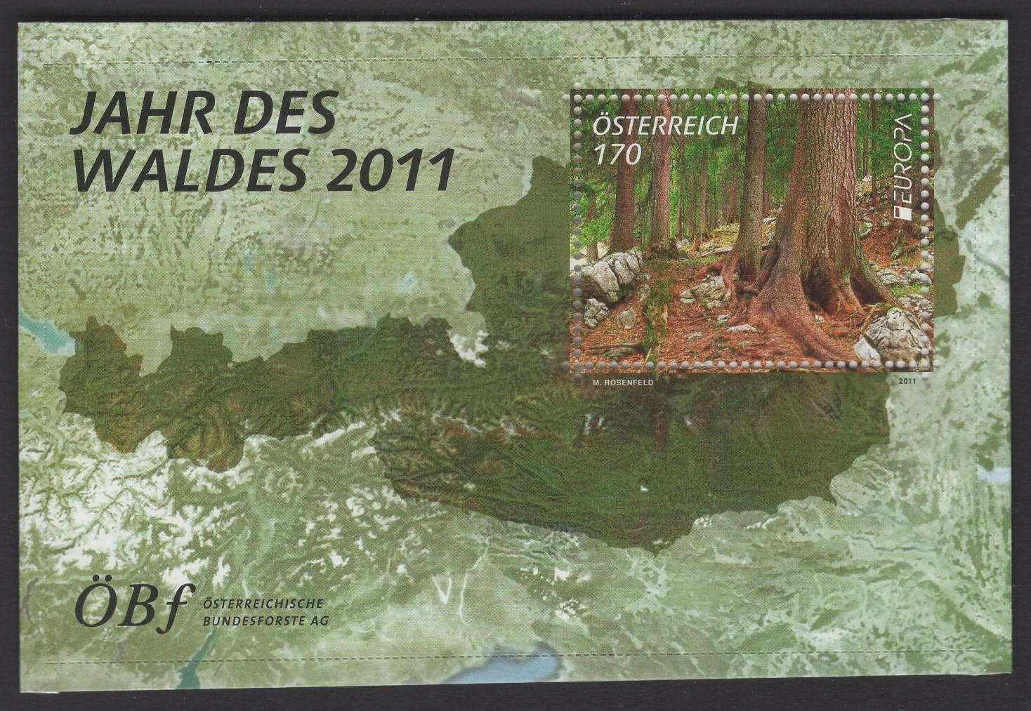 Österreich - Block 067 - postfrisch - Jahr des Waldes 2011