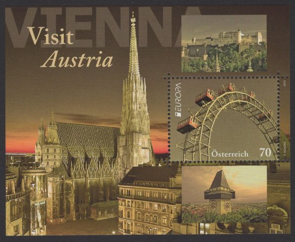 Österreich - Block 069 - postfrisch - Europa Besuche