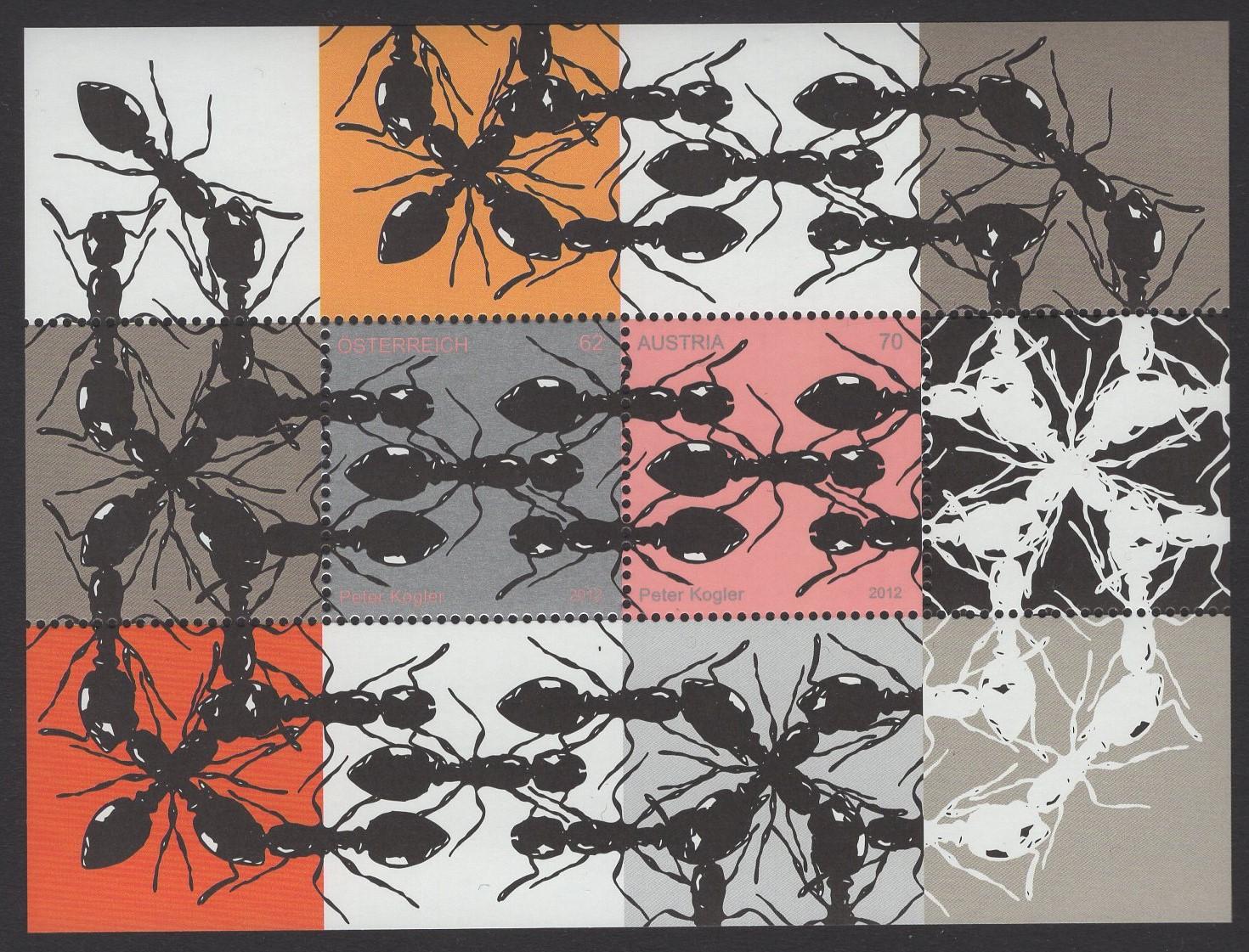 Österreich - Block 071 - postfrisch - Zeitgenössische Kunst Ameisen