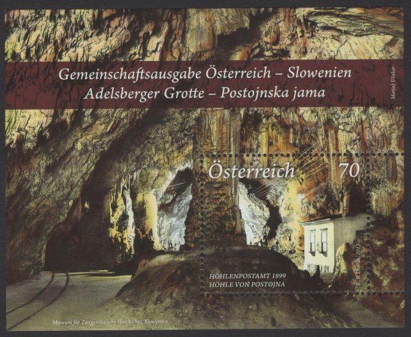Österreich - Block 073 - postfrisch - Adelsberger Grotte