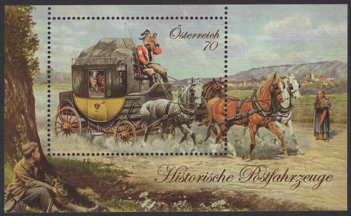 Österreich - Block 077 - postfrisch - Historische Postfahrzeuge