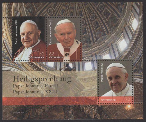 Österreich - Block 079 - postfrisch - Papst Heiligsprechung