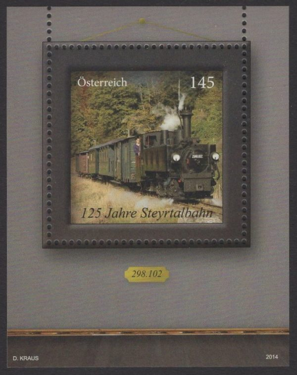 Österreich - Block 082 - postfrisch - 125 Jahre Steyrtalbahn