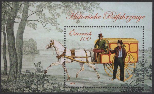 Österreich - Block 088 - postfrisch - Historische Postfahrzeuge