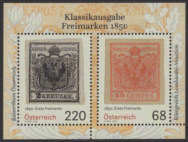 Österreich - Block 089 - postfrisch - Klassikausgabe Freimarken