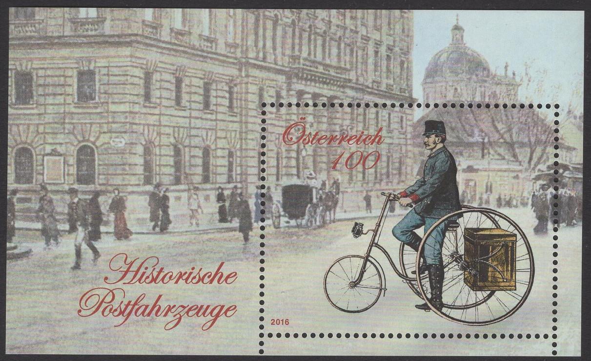 Österreich - Block 090 - postfrisch - Historische Postfahrzeuge