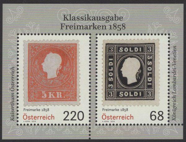 Österreich - Block 091 - postfrisch - Klassikausgabe Freimarken