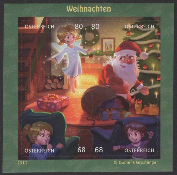Österreich - Block 092 - postfrisch - Comikmarke Puzzle V Weihnachten