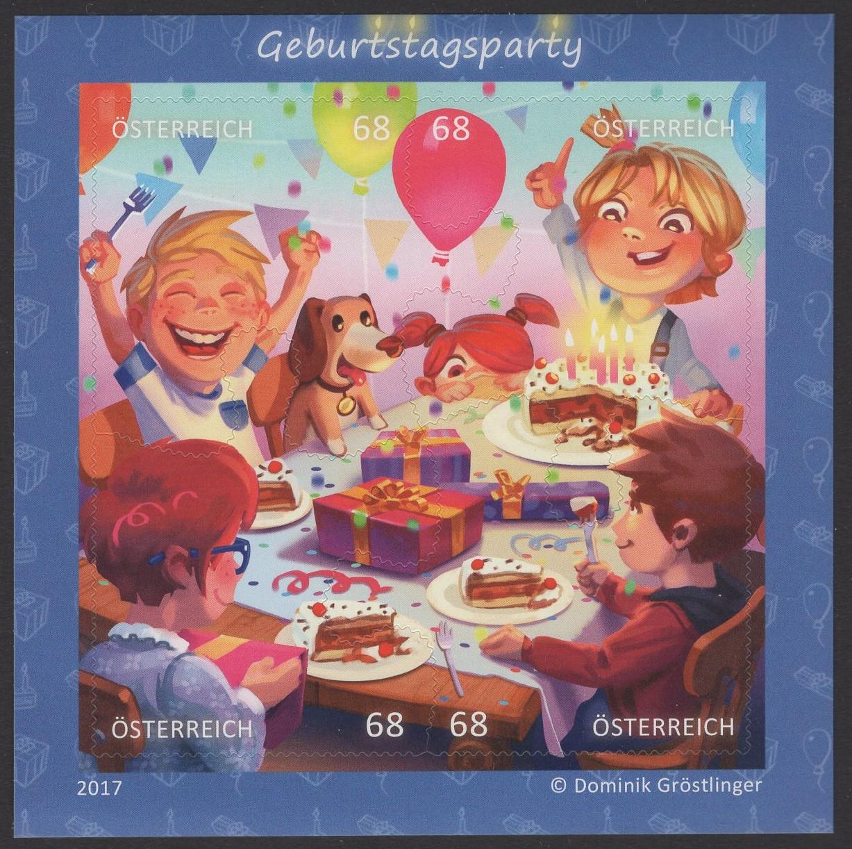 Österreich - Block 093 - postfrisch - Comikmarke Puzzle VI Geburtstagsparty