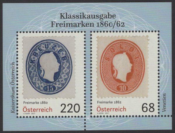 Österreich - Block 094 - postfrisch - Klassikausgabe Freimarken