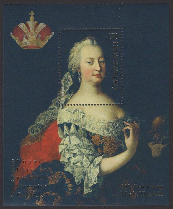 Österreich - Block 095 - postfrisch - 300. Geburtstag Maria Theresia