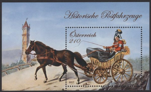 Österreich - Block 096 - postfrisch - Historische Postfahrzeuge