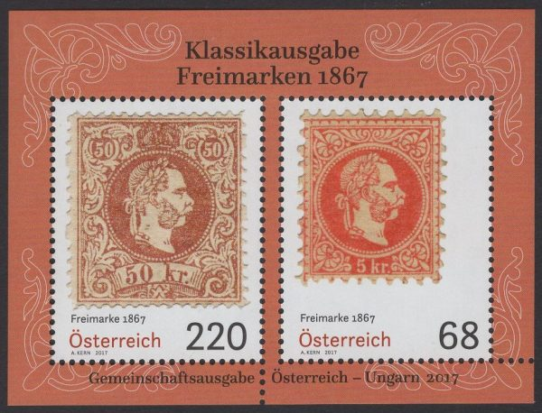 Österreich - Block 097 - postfrisch - Klassik Freimarken