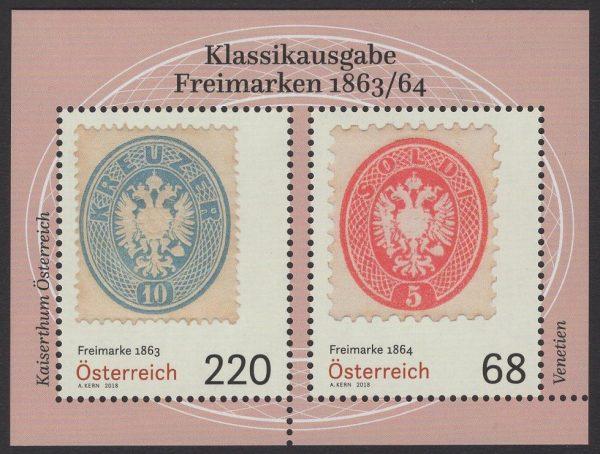 Österreich - Block 098 - postfrisch - Klassik Freimarken