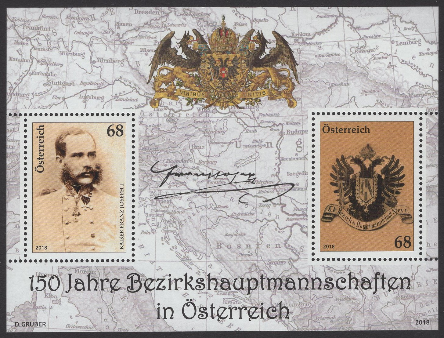 Österreich - Block 099 - postfrisch - 150 Jahre Bezirkshauptmannschaften in Österreich