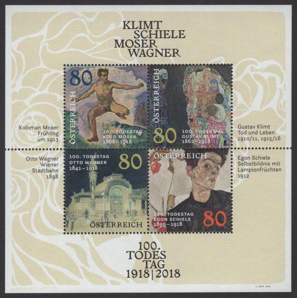 Österreich - Block 101 - postfrisch - 100 Todestag Klimt
