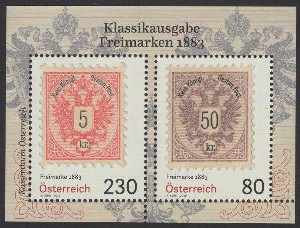 Österreich - Block 105 - postfrisch - Klassische Freimarken