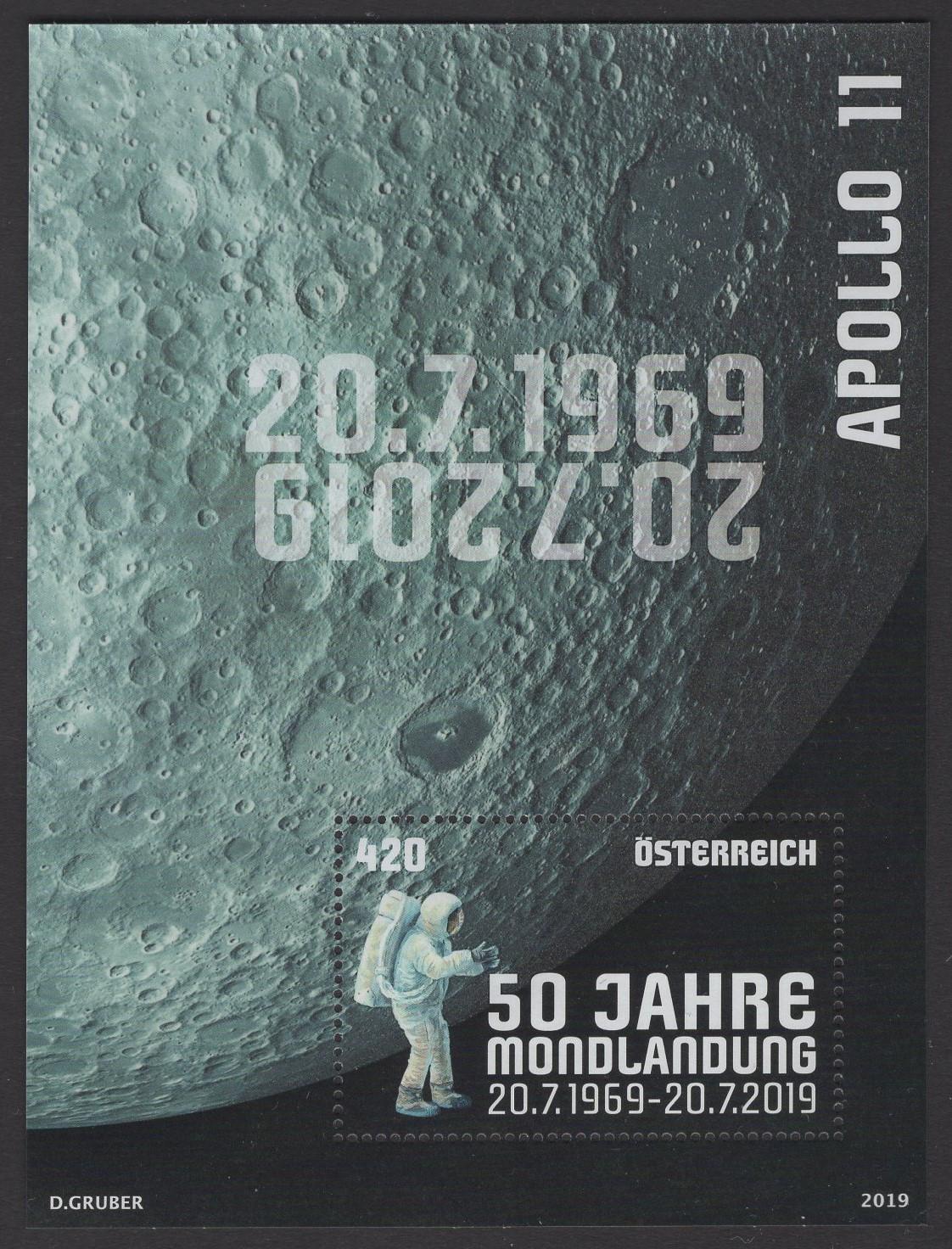 Österreich - Block 106 - postfrisch - Erste bemannte Mondlandung