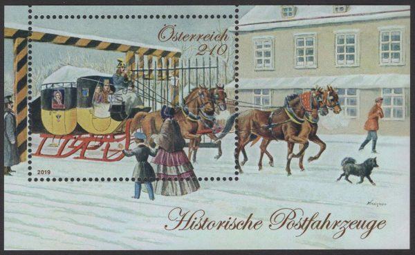 Österreich - Block 107 - postfrisch - Historische Postfahrzeuge