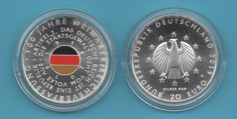 2019-04-20€-925er Silber- Weimarer Verfassung