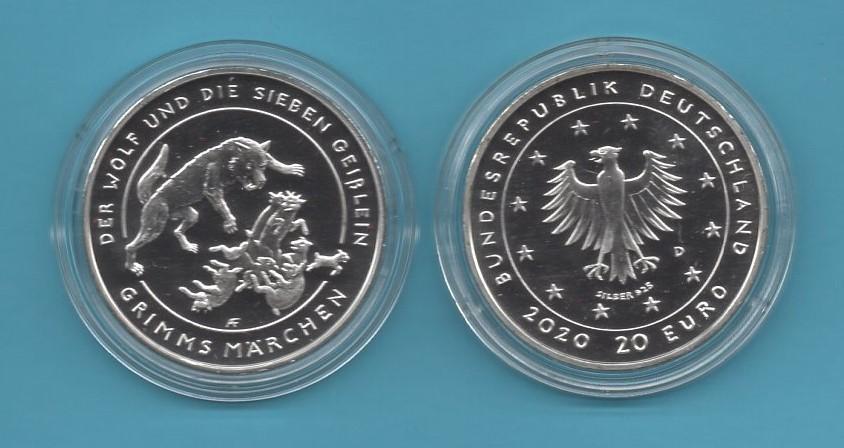 2020-01-20€-925er Silber- Der Wolf und die sieben Geislein