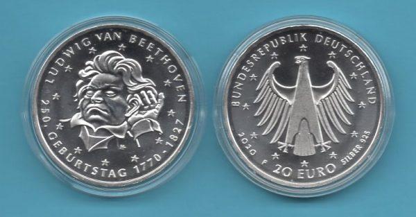 2020-02-20€-925er Silber- 250 Geburstag Ludwig van Beethoven