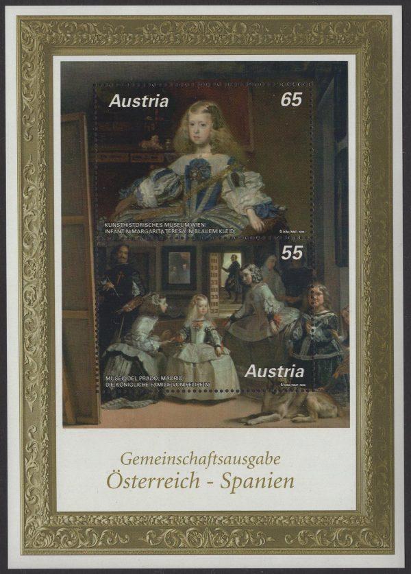 Österreich - Block 056 - postfrisch - 410 Jahre Velasquez