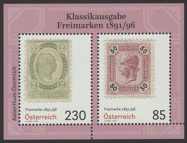 Österreich - Block 112 - postfrisch - Klassische Briefmarken 1891-96