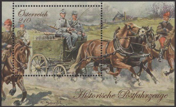 Österreich - Block 117 - postfrisch - Historische Postfahrzeuge