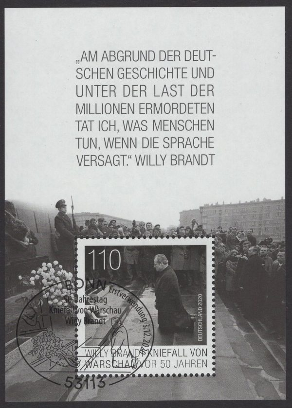 Bund Block 087 Willy Brandt gestempelt