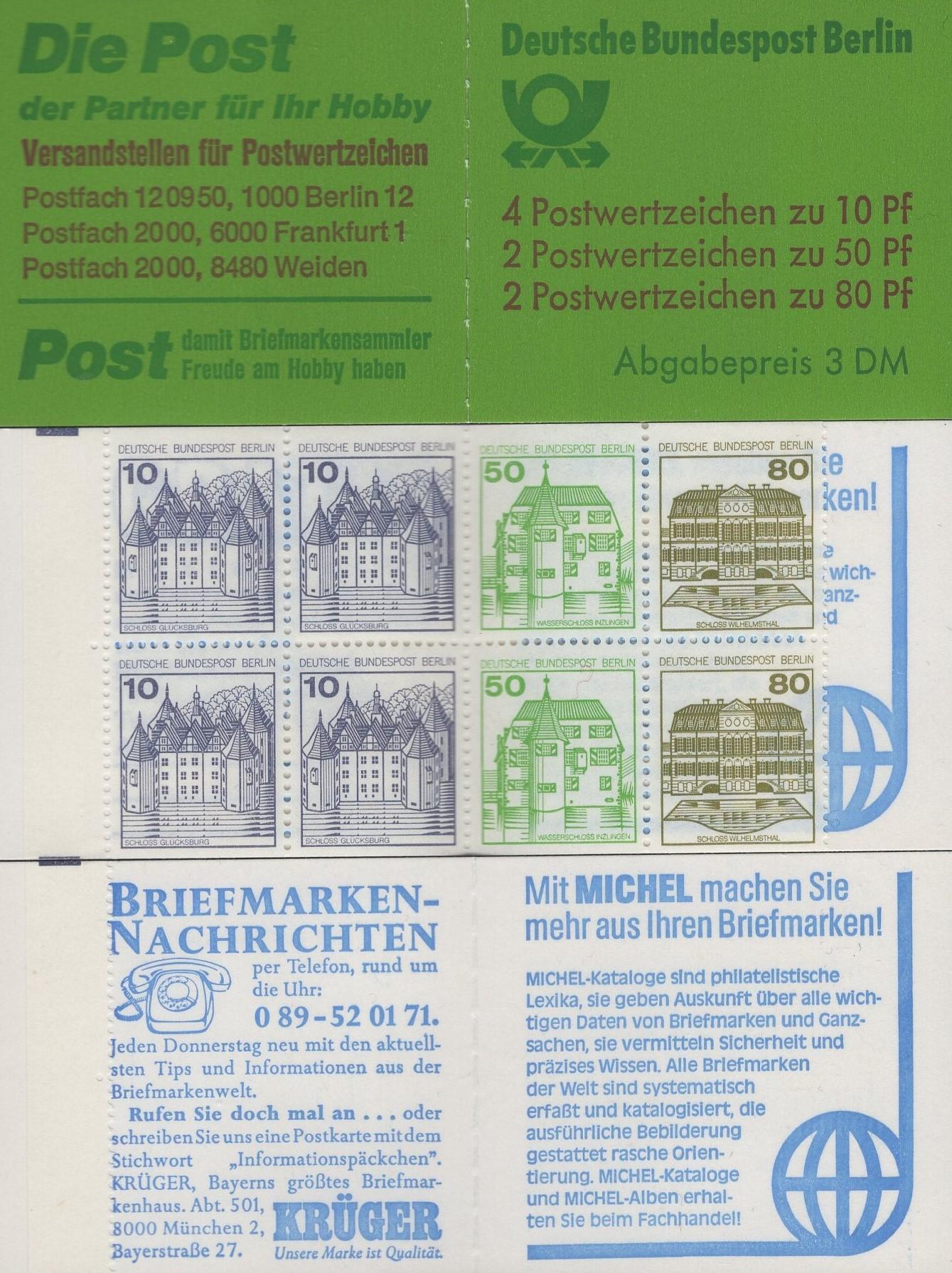 Berlin MH 13 b oZ Burgen und Schlösser