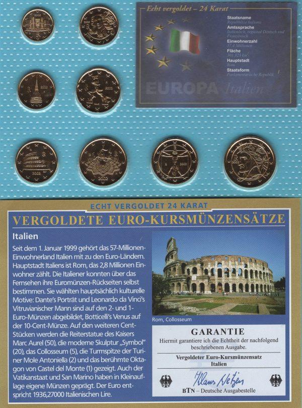 Italien 2002 vergoldet