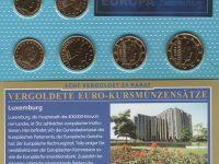 Luxemburg 2002 vergoldet
