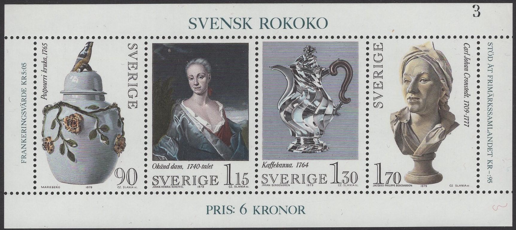 Schweden - postfrisch - Block 07 - Schwedisches Rokoko 1979