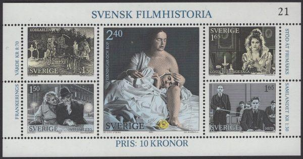 Schweden - postfrisch - Block 09 - Geschichte Schwedischer Film 1983