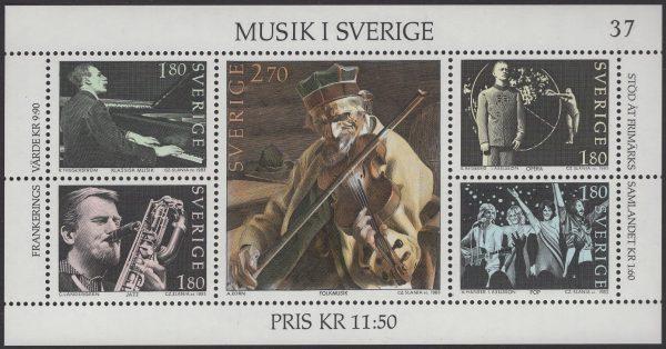 Schweden - postfrisch - Block 11 - Musik in Schweden - postfrisch - 1983